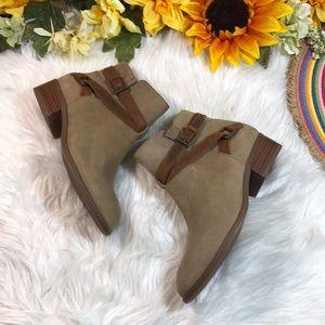 Ralph Lauren Leather Almond Toe Booties 6